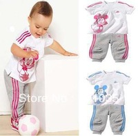 Free shipping/ Private baby Minnie suit children's wear children 2 color