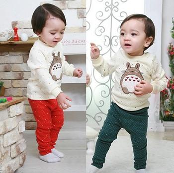 newarrival,3sets/lot-Baby Boy and Girl Little Mouse Warm Pajamas Kids Cartoon Sleepwear Children leisure Wear 775