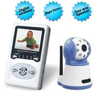 """2.4"""" LCD 2.4G Wireless Digital Baby Monitor with IR ,Zoom, Two Way Speak,wireless kit"""
