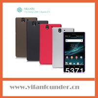 Free shipping,High quality Nillkin hard matte cover for Sony Xperia Z L36i L36h case,with screen protector