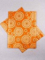 African Fabric Sego Headtie 2 Yards Orange ht0358_2