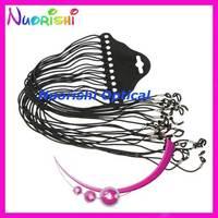 free shipping L703 120pcs  black eyeglass sunglasses braided nylon neck string cord retainer strap eyewear lanyard holder