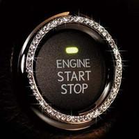 free shipping 2pcs Jp garson dad key start button ring key diamond ring key hole ring rhinestone ring