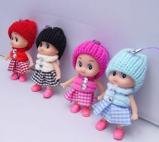 Confused doll mobile phone pendant novelty practical gifts lovers accessories night market(China (Mainland))