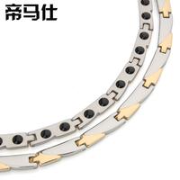 Titanium steel metal germanium necklace anti fatigue radiation-resistant necklace