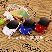 MINI WIRELESS USB RF CORDLESS CAR MICE MOUSE LAPTOP PC Mini Car 2.4G USB Wireless Optical Mouse 10M free shipping ES165