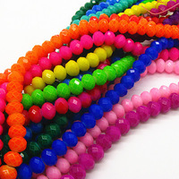 8mm Wholesale Spray Paint Glass Beads Fashion Mix Color Single Hole Loose Beads for DIY Jewelry Findings Free Shipping HB471