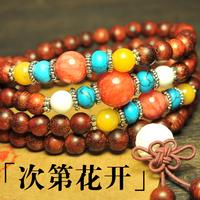 Special   India lobular red sandalwood bracelet 108 rare original red sandalwood beads bracelet 6 mm spiritual beliefs