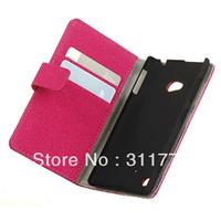 Card Slots Design Matte Leather Case For Nokia Lumia 720