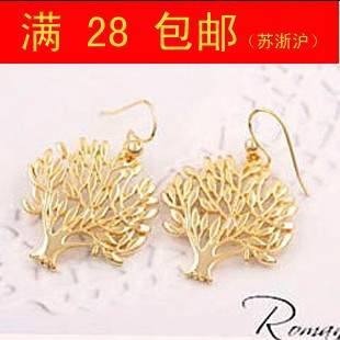 Fashion accessories cutout gold coral elegant women's personalized earrings