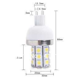 Hot sale G9 5W 220V SMD 5050 30 LED energy saving high bright Warm White Corn Light free drop shipping(China (Mainland))