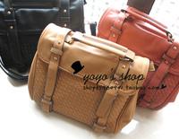 Brand! 2013, Fashion high quality bag preppy style knitted vintage bag briefcase handbag messenger bag