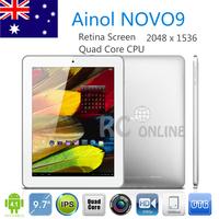 "9.7"" Ainol NOVO9 FireWire Spark tablet pc  Retina Screen 2048*1536 A31 Quad Core 2GB RAM 16GB Camera HDMI OTG"