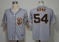 Mix Order San Francisco Giants 54# sergio romo grey 2012 Baseball Jerseys Cool Base Embroidery logos Free Shipping