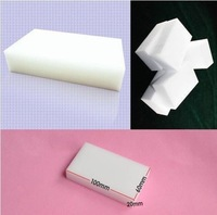20 pcs/lot Wholesale White Magic Sponge Eraser Melamine Cleaner,multi-functional Cleaning 100x60x20mm Free Shipping