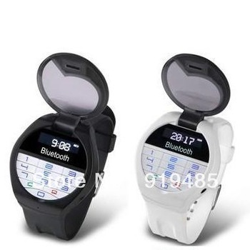 Bluetooth Bracelet w/LCD Caller ID Vibration Alert Digital Time Wrist Watch w/ Keyboard Answer/Diali