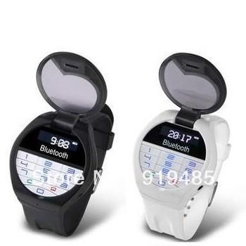Bluetooth Bracelet w/LCD Caller ID Vibration Alert Digital Time Wrist Watch w/ Keyboard Answer/Diali