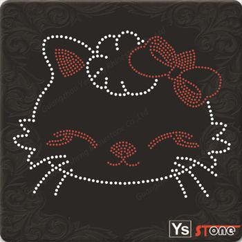 YSSTONE 12A049 Fashion Style Korean Hot Fix Motif For Cat