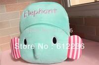 Cute Elephant Coral fleece Cartoon backpack children's Bag Satchel School Bag hot selling dropship free shipping