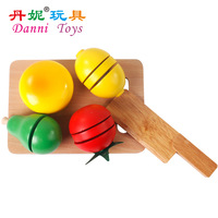 Qieqie see a dietitian bundle baby kitchen toys puzzle artificial wooden toys