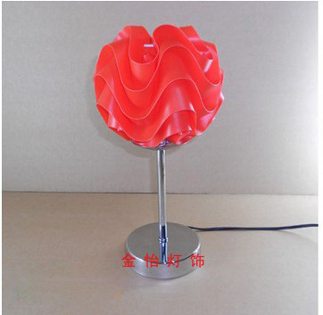 2013 new arrival Modern brief pp material wave table lamp decoration table lamp bedside table lamp free shipping(China (Mainland))