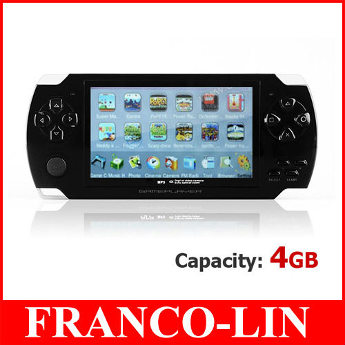 4.3&#39;&#39; Large Display Screen MP5 Game Player 4GB MP3 MP4 MP5 Game Console Android Game Player TV OUT Video FM Free Shipping(China (Mainland))