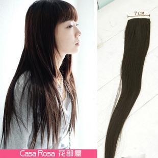 Flower beauty hair piece girls piece 2 clip piece long straight hair extension beam wound-up(China (Mainland))