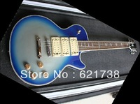 2012 New Style Ace frehley signature electric guitar silve blue Bright body ebony fingerboard electric guitars