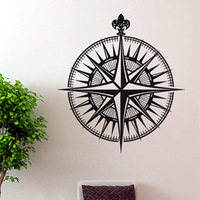 Free Shipping  Wall stickers Home Garden Wall Decor Vinyl Removable Art Mural Home decor Mariner's compass T-31