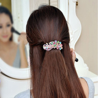 Vintage Shining Crystal Rhinestone Peacock Hairpin Hair Barrette Side Hair Clip  LKT0059