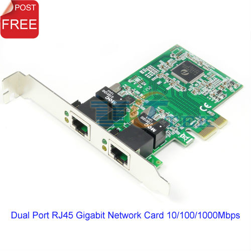 PCI-Express dual Gigabit Ethernet Controller Card Adapter 2 Port RJ45 10/100/1000 BASE-T Singapore Post Free(China (Mainland))