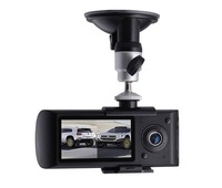"2.7 ""LCD Car camera recorder with GPS logger G-Sensor Dual Lens front and back"