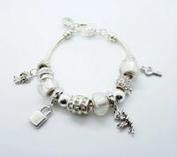 925 silver bracelet-APB71-Free Shipping Cham Charmiliar Bead Bracelet Charmiliar Bracelet For Woman 925 Sterling Silver Bracelet