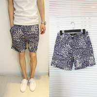 2013 summer male casual shorts national the trend of fashion trend slim knee-length pants male trousers