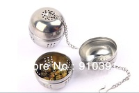 Free shipping Stainless steel Tea ball Filtering ball as Cute Tea Strainer Percolator tool for soup coffee as cooking accessory.