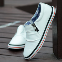 free shipping 2013 male shoes low-top casual shoes men foot wrapping PU men's shoes