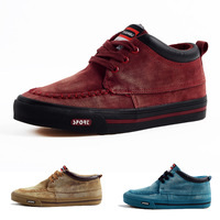 free shipping 2013 male casual shoes nubuck cowhide the trend vintage thermal plus velvet male shoes