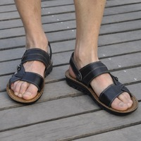 free shipping Summer Men genuine leather sandals male personality male breathable casual male sandals