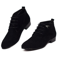 free shipping Elevator shoes male boots scrub fashion trend of the boots casual leather shoes male shoes high boots