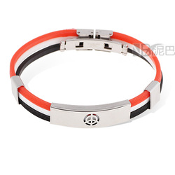 Target with Three Moveable Colorful Strips Casual Silicone Bracelets Wholesale FREE SHIPPING(China (Mainland))