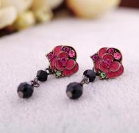 2012 women's rose earrings fashion accessories earring Factory Wholesale