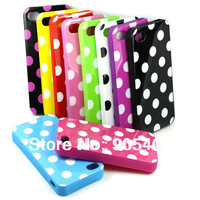 New Fashion Dots Silicon Back Case Cover For Apple iphone 5 5G JS0420 Free shipping
