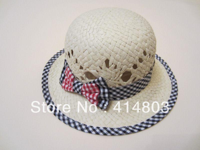 Wholesale New 49-53cm TODDLER Girls Summer Straw Sun hat, Kids' Bucket Caps Beanie Children Sunhats 3pcs/lot(China (Mainland))
