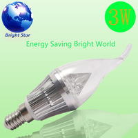 Free shipping New Porduct Hot Selling 220 Volt LED Diamond/Pyramid E14 3W 2700k 180 degree
