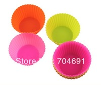 12PCS /LOT Silicone Muffin Cases Cake Cupcake Liner Baking Mold Round shape