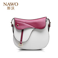 Freeshipping 2013 personality elegant the royal color block women's handbag cowhide cross-body one shoulder vintage saddle bag