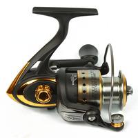 6 shaft gy6000 aluminum folding rocker arm fishing reels spinning wheel round pole