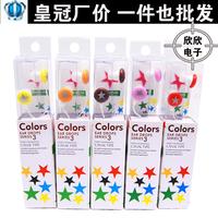 Earphones five-pointed star chocolate candy ear heatshrinked x305