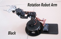 AS-6 DOF Robot Arm Clamp Claw Turntable Base & 6 Servos Complete Alloy sets  Assembled for Arduino