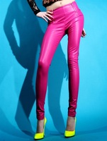 2012 fashion all-match fashion zipper tight leather pants PU trousers skinny pants pencil pants